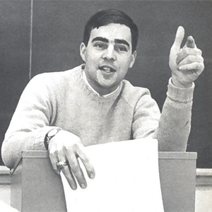 John Merrow teaching in 1966